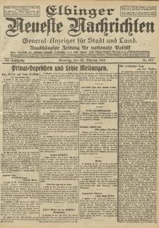 Elbinger Neueste Nachrichten, Nr. 249 Sonntag 20 Oktober 1912 64. Jahrgang