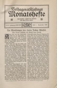Velhagen & Klasings Monatshefte. September 1909, Jg. XXIV. Bd. I, Heft 1.