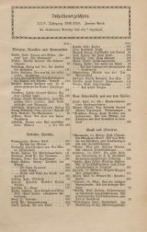 Velhagen & Klasings Monatshefte. Jg. XXIV. Bd. II. : Inhaltsverzeichnis