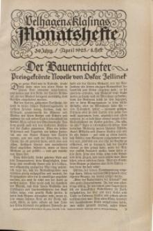Velhagen & Klasings Monatshefte. April 1925, Jg. XXXIX. Heft 8.