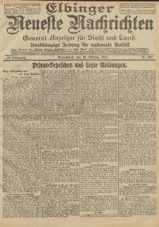 Elbinger Neueste Nachrichten, Nr. 256 Sonntag 27 Oktober 1912 64. Jahrgang