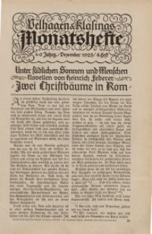 Velhagen & Klasings Monatshefte. Dezember 1925, Jg. XL. Heft 4.