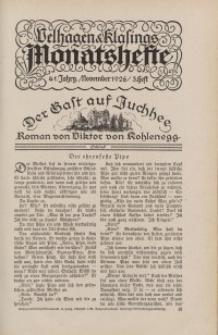Velhagen & Klasings Monatshefte. Dezember 1926, Jg. XLI. Heft 4.