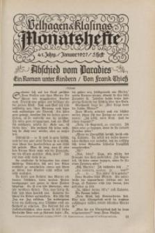 Velhagen & Klasings Monatshefte. Januar 1927, Jg. XLI. Heft 5.
