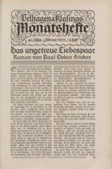 Velhagen & Klasings Monatshefte. Februar 1927, Jg. XLI. Heft 6.