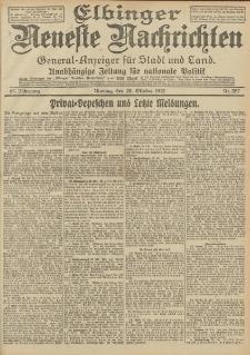 Elbinger Neueste Nachrichten, Nr. 257 Montag 28 Oktober 1912 64. Jahrgang