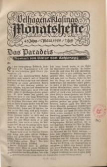 Velhagen & Klasings Monatshefte. März 1929, Jg. XLIII. Heft 7.