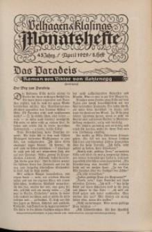 Velhagen & Klasings Monatshefte. April 1929, Jg. XLIII. Heft 8.