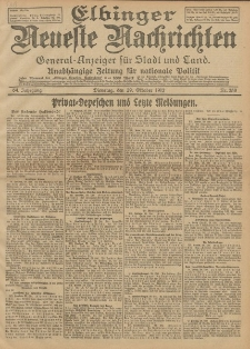 Elbinger Neueste Nachrichten, Nr. 258 Dienstag 29 Oktober 1912 64. Jahrgang