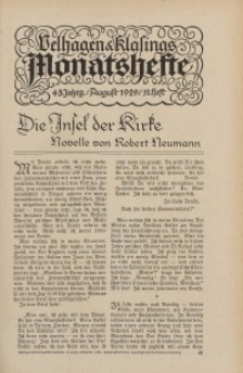 Velhagen & Klasings Monatshefte. August 1929, Jg. XLIII. Heft 12.