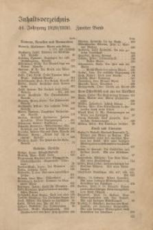 Velhagen & Klasings Monatshefte. Jg. LXIV. Bd. II.: Inhaltsverzeichnis