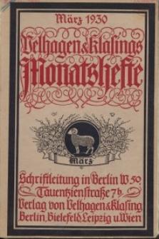 Velhagen & Klasings Monatshefte. März 1930, Jg. XLIV. Heft 7.