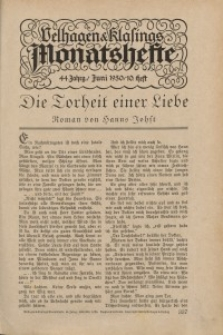 Velhagen & Klasings Monatshefte. Juni 1930, Jg. XLIV. Heft 10.