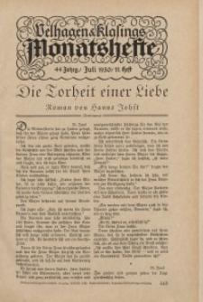 Velhagen & Klasings Monatshefte. Juli 1930, Jg. XLIV. Heft 11.