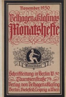 Velhagen & Klasings Monatshefte. September 1930, Jg. XLV. Heft 1.