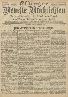 Elbinger Neueste Nachrichten, Nr. 259 Mittwoch 30 Oktober 1912 64. Jahrgang
