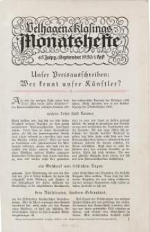 Velhagen & Klasings Monatshefte. Oktober 1930, Jg. XLV. Heft 2.