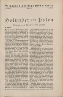 Velhagen & Klasings Monatshefte. Juni 1933, Jg. XLVII. Heft 10.