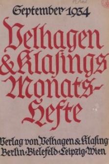 Velhagen & Klasings Monatshefte. September 1934, Jg. XLIX. Heft 1.