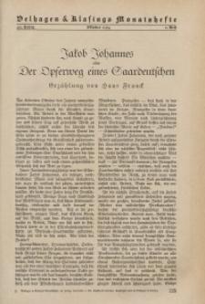 Velhagen & Klasings Monatshefte. Oktober 1934, Jg. XLIX. Heft 2.