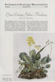 Velhagen & Klasings Monatshefte. November 1938, Jg. LIII. Heft 3.