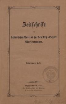 Zeitschrift des historischen Vereins für den Regierungsbezirk Marienwerder, H. 15