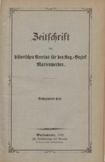 Zeitschrift des historischen Vereins für den Regierungsbezirk Marienwerder, H. 16