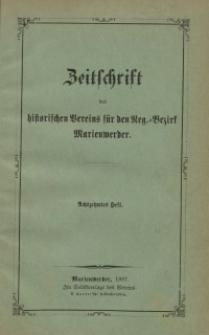 Zeitschrift des historischen Vereins für den Regierungsbezirk Marienwerder, H. 18