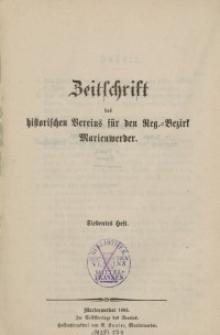 Zeitschrift des historischen Vereins für den Regierungsbezirk Marienwerder, H. 7