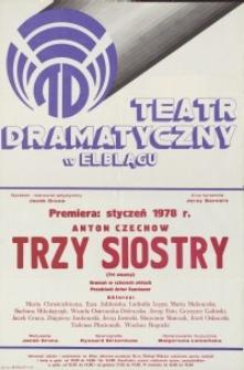 Trzy siostry – afisz teatralny