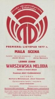 Warszawska melodia – afisz teatralny