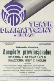 Anegdoty prowincjonalne - afisz teatralny