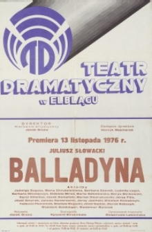 Balladyna – afisz teatralny