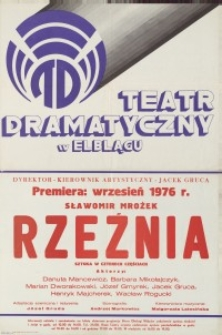Rzeźnia - afisz teatralny