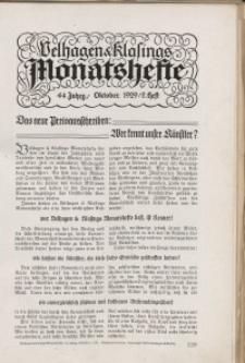 Velhagen & Klasings Monatshefte. Oktober 1929, Jg. XLIV. Heft 2.