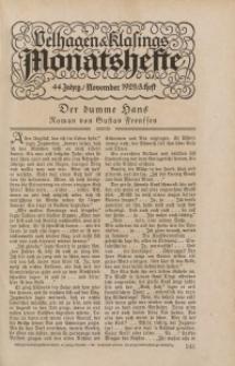 Velhagen & Klasings Monatshefte. November 1929, Jg. XLIV. Heft 3.