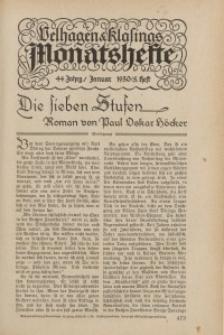 Velhagen & Klasings Monatshefte. Januarl 1930, Jg. XLIV. Heft 5.