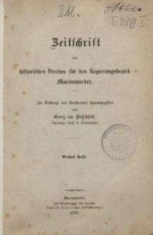 Zeitschrift des historischen Vereins für den Regierungsbezirk Marienwerder, H. 1