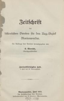Zeitschrift des historischen Vereins für den Regierungsbezirk Marienwerder, H. 52