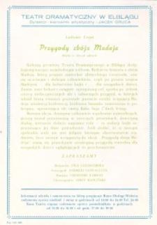 Przygody zbója Madeja - ulotka zwiastująca spektakl