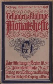 Velhagen & Klasings Monatshefte. September 1919, Jg. XXXIV. Heft 1.