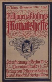 Velhagen & Klasings Monatshefte. November 1919, Jg. XXXIV. Heft 3.
