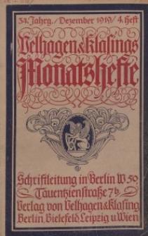 Velhagen & Klasings Monatshefte. Dezember 1919, Jg. XXXIV. Heft 4.