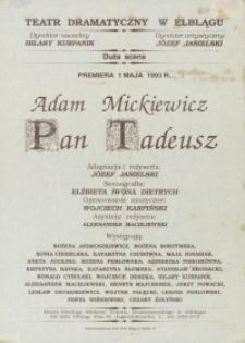 Pan Tadeusz - afisz
