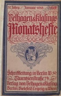 Velhagen & Klasings Monatshefte. Januar 1918, Jg. XXXII. Heft 5.