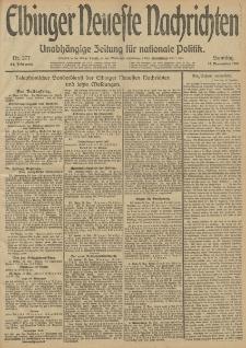 Elbinger Neueste Nachrichten, Nr. 277 Sonntag 17 November 1912 64. Jahrgang