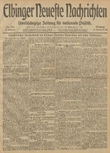 Elbinger Neueste Nachrichten, Nr. 278 Montag 18 November 1912 64. Jahrgang