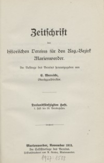 Zeitschrift des historischen Vereins für den Regierungsbezirk Marienwerder, H. 53