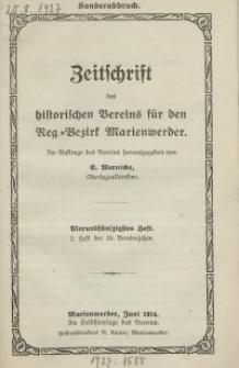 Zeitschrift des historischen Vereins für den Regierungsbezirk Marienwerder, H. 54