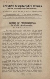 Zeitschrift des historischen Vereins für den Regierungsbezirk Marienwerder, H. 57